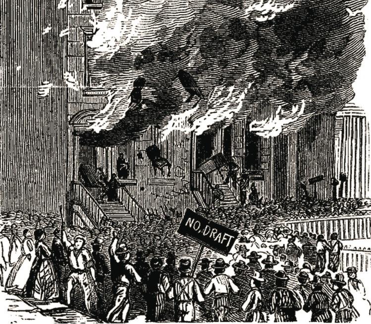 The Draft Riots, 1863   via