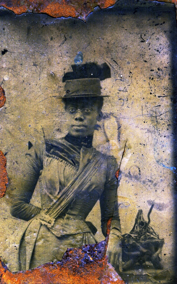 The Weeksville Lady, a tintype found by the Hunterfly Road Houses, c. 1880   via