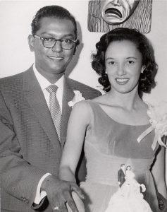Ben and Virginia Ali at their wedding in 1958,   via