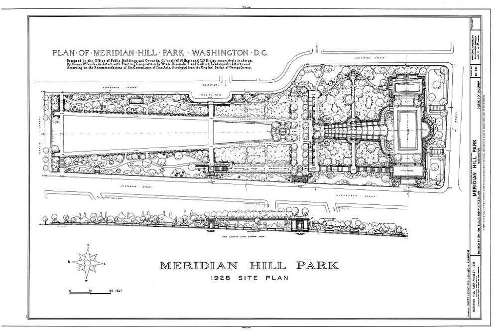 1928 plan of the park,   via