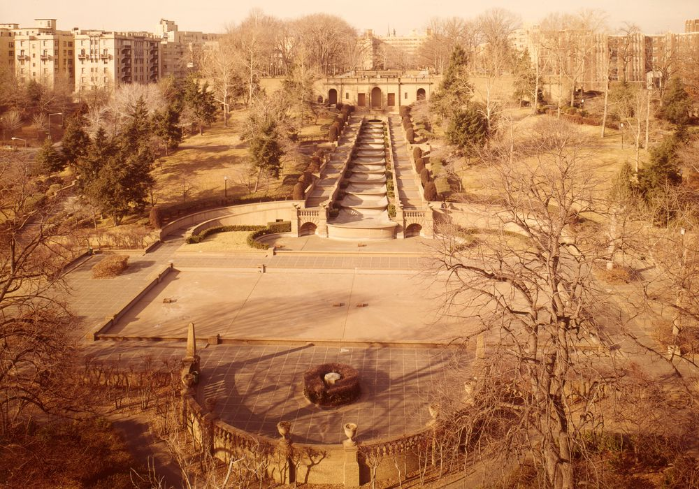 Meridian Hill Park in 1976,   via