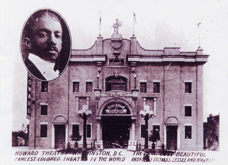 """An early poster calls the Howard the """"largest colored theatre in the world""""   via"""