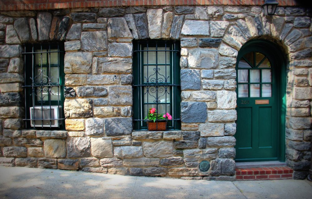 One of the buildings outside the gate   via