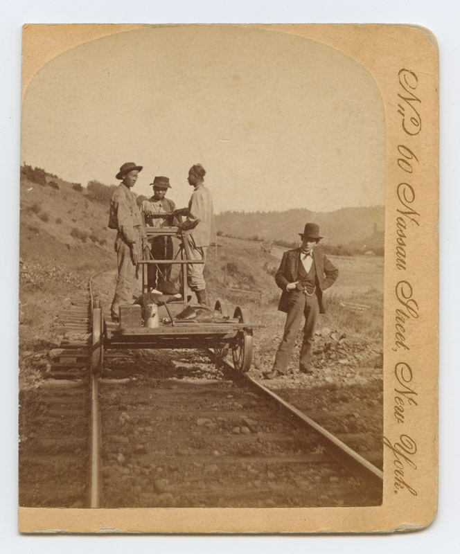 Chinese workers on the Oregon and California railroads, c. 1870  via