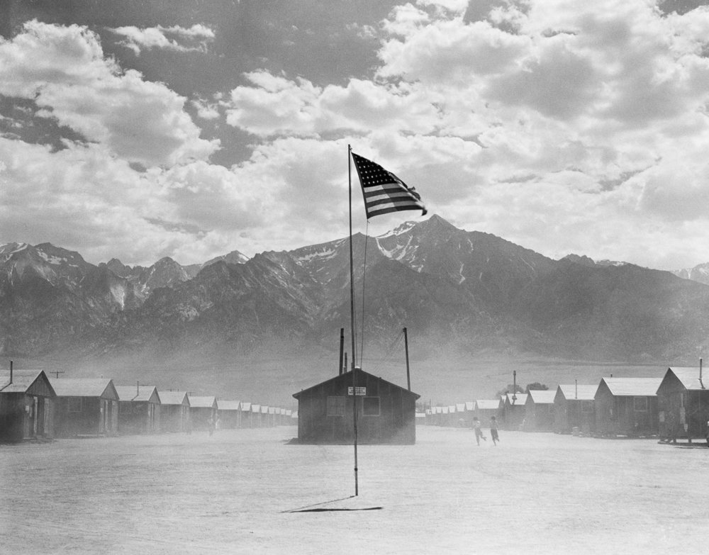 Manzanar Relocation Center, one of the ten concentration camps where Japanese Americans were held during the war  via
