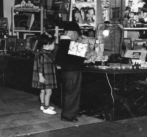 Japanese American children in Little Tokyo, the day after the bombing of Pearl Harbor, 1941  via