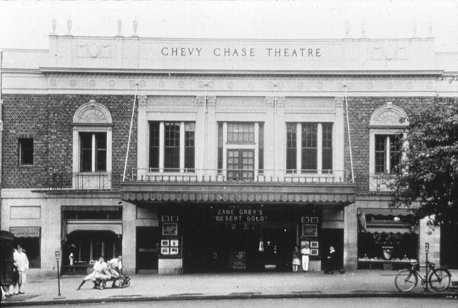 The Chevy Chase Theatre in the 1920s,  via