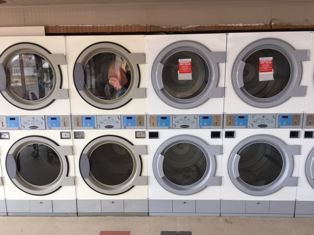 Old 30x30 dryers on the left.  New dryers on the right.  Notice the updated door handles.