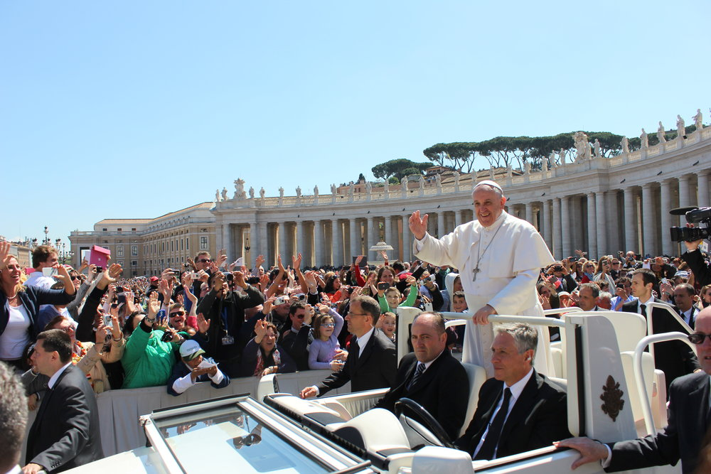 Pope Francis, St. Peter's Square, Easter 2014