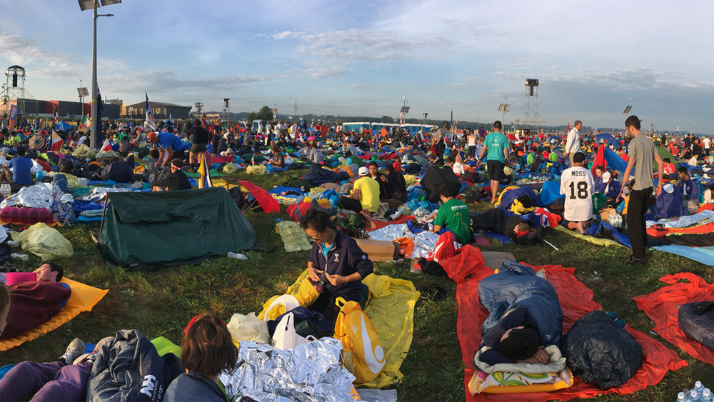 Early morning hours before the Closing Mass of World Youth Day 2016.