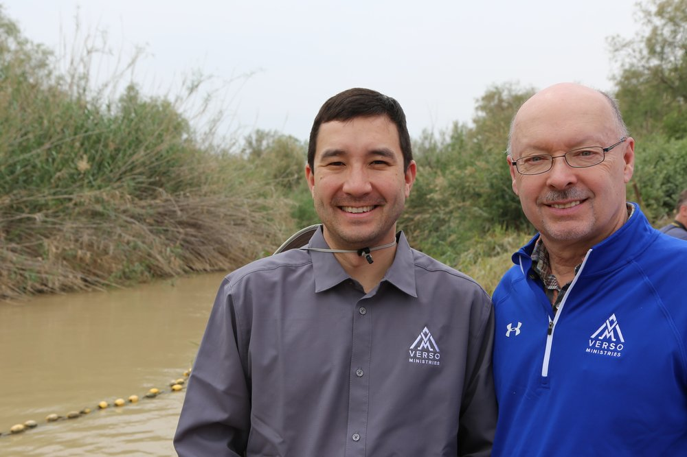 Me and my dad at the Jordan River.