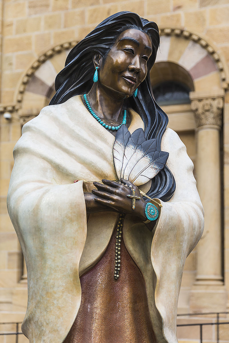 Statue of Saint Kateri Tekakwitha  Photo by Dieterkaupp/CCA-SA 4.0