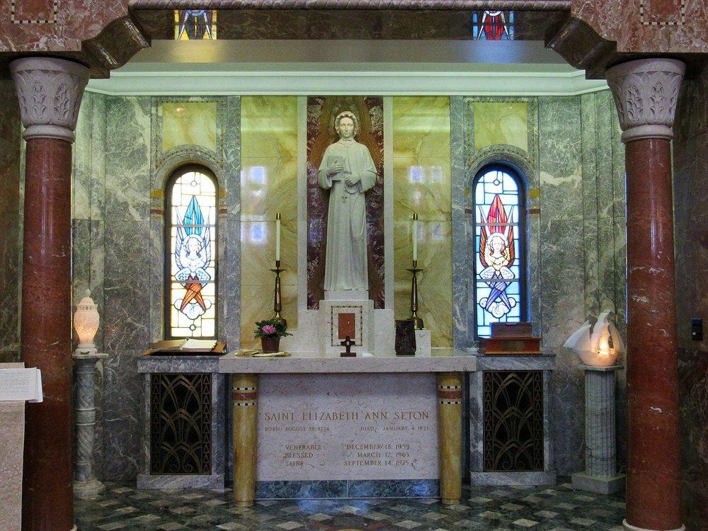 Shrine of Elizabeth Ann Seton  Photo by Farragutful/CCA-SA 4.0