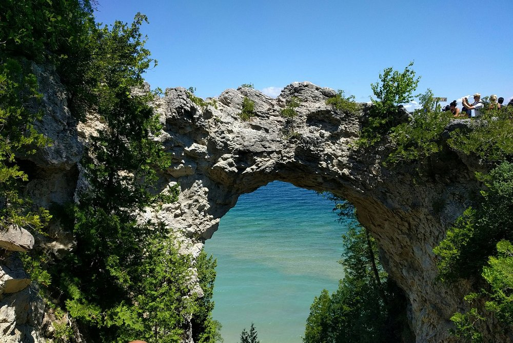 Arch Rock on Mackinac Island  Photo by Viplav Valluri/CCA-SA 4.0