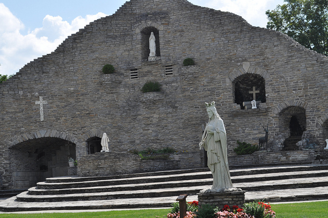 Our LAdy of the Woods Grotto  Photo by Michigan Municipal League/CCA-SA 2.0
