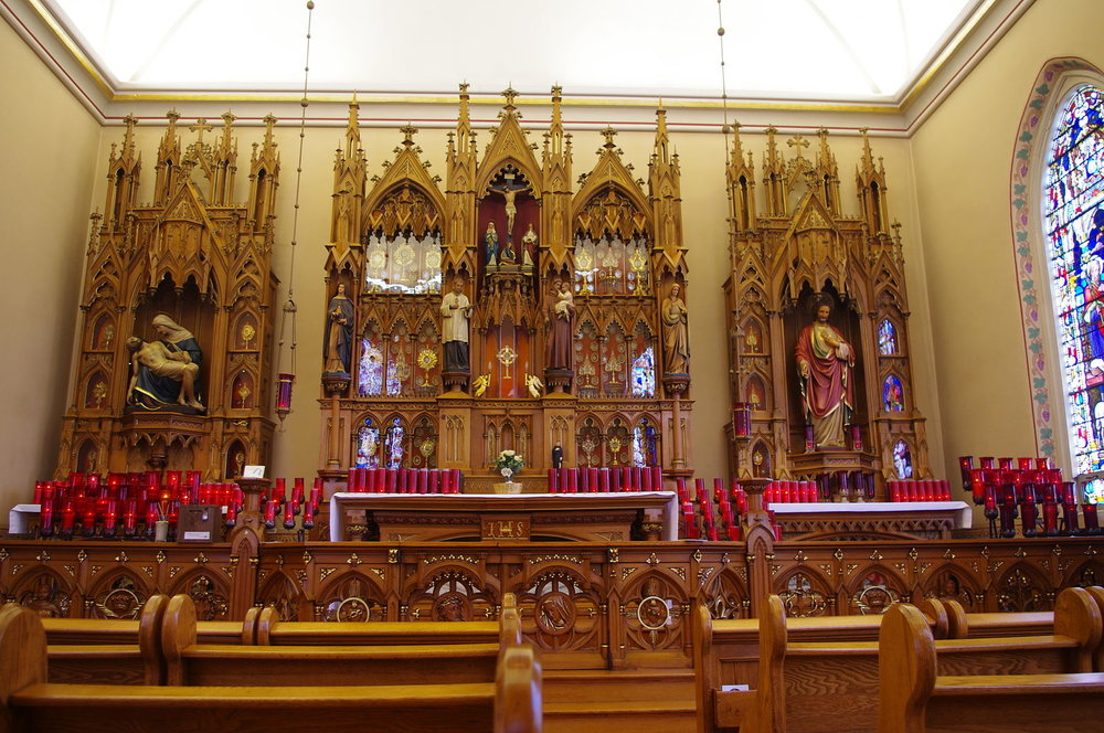 Main Altar at the Maria Stein Shrine  Photo by Nheyob/CCA-SA 3.0
