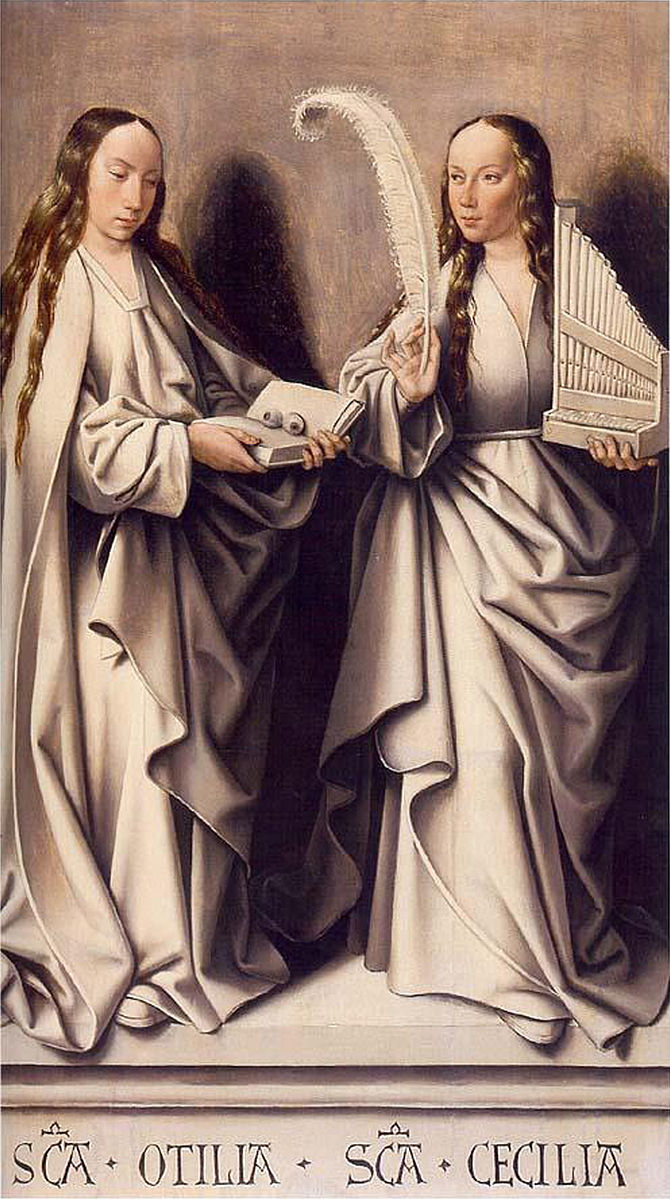 Image of Saint Odilia and Saint Cecelia