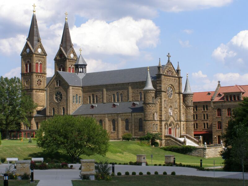 Saint Meinrad Archabbey - Saint Meinrad Archabbey was founded three years before the Diocese of Fort Wayne-South Bend. It is the home of a group of Benedictine Monks who were at the heart of the spread of Catholicism throughout the state of Indiana.