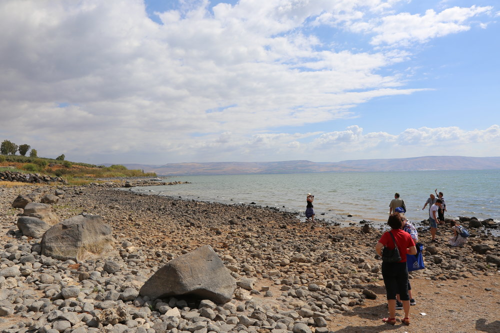 "The shores of the Sea of Galilee, where Jesus asked Peter, ""Do you love me?"""