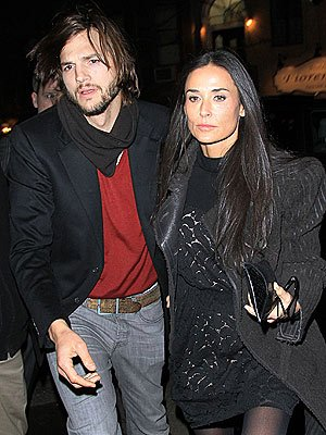 Age is but a number. Demi Moore, 49, and Ashton Kutcher, 33, before their divorce.   Photo Credit: Jackson Lee/Splash News Online from People.com