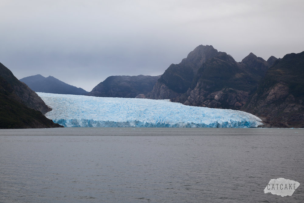 The San Rafael glacier (viewed from afar) is the tidewater glacier nearest the equator.