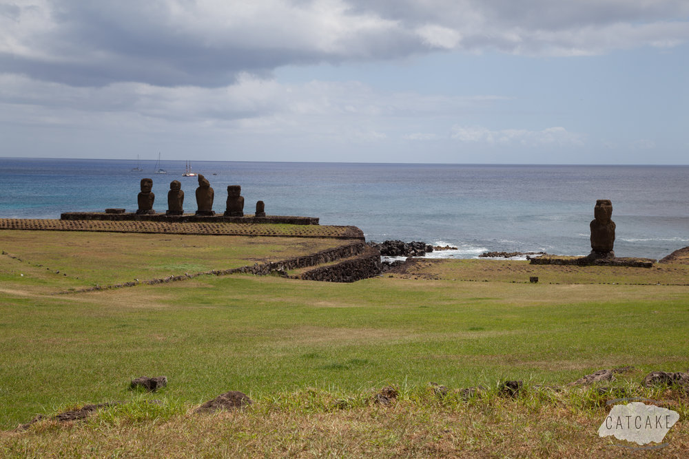 These six moai are the closest to Hanga Roa, which is the main town on Easter Island.
