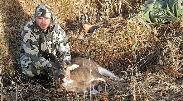 Tom with his first Sitka Blacktail, a very delicious mature doe...