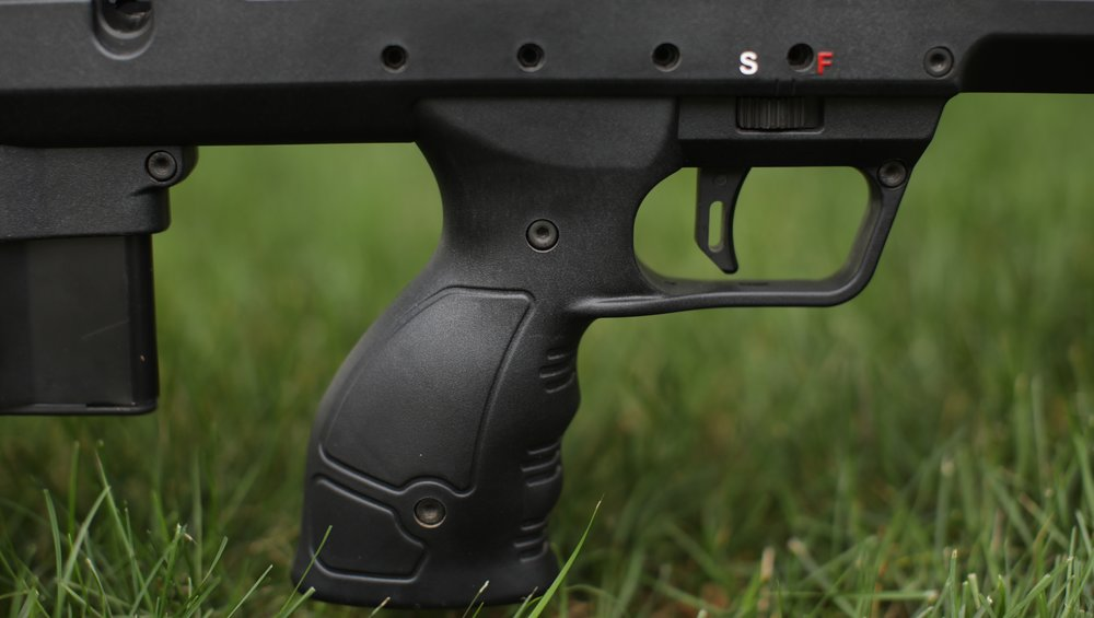 The SRS trigger is easily adjustable for both weight and creep.