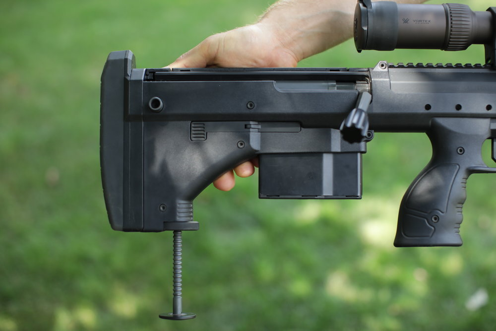 The rifle's monopod is awesome.  It deploys and adjusts very quickly, and offers a rock steady rest.