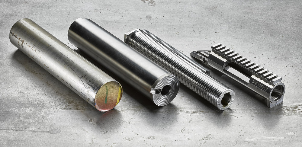 Each actions starts as a piece of stainless steel barstock