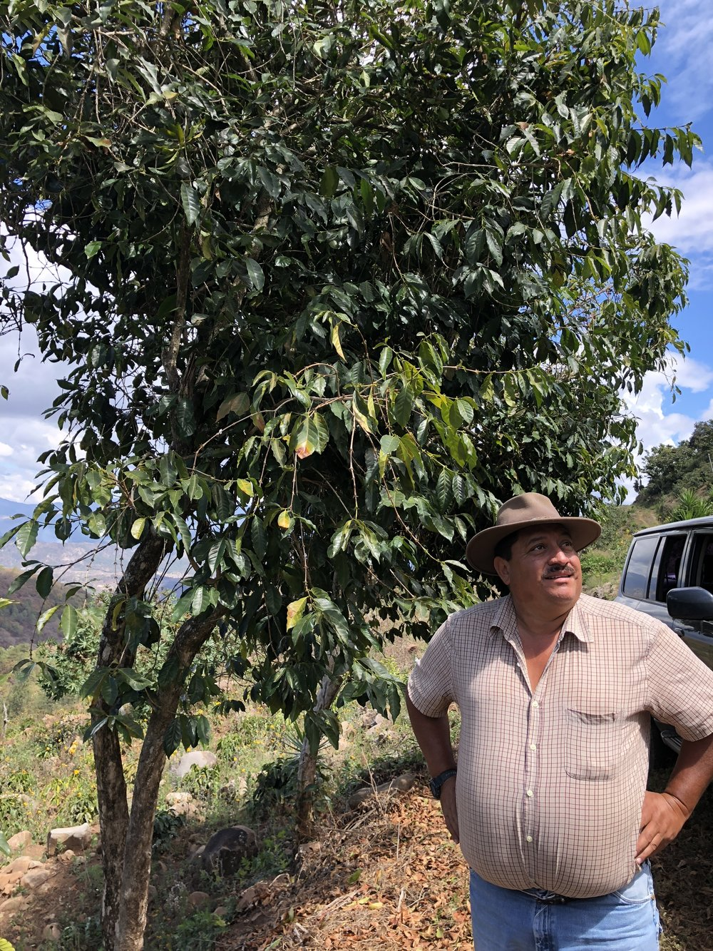 Antonio Medina on his farm in Chimaltenango, Guatemala. Photo via Shared Source