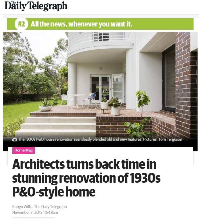 NOV 2015 | THE DAILY TELEGRAPH - KILLARA HOUSE