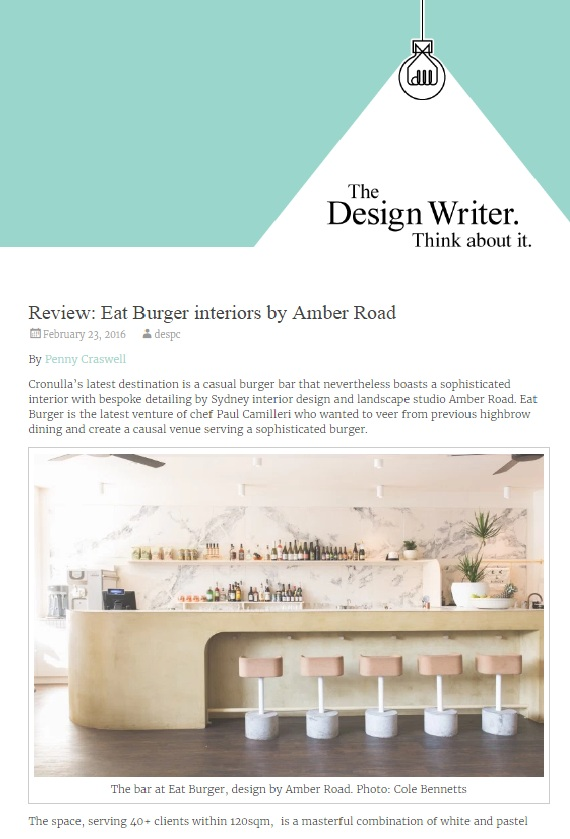 FEB 2016 | THE DESIGN WRITER - EAT BURGER