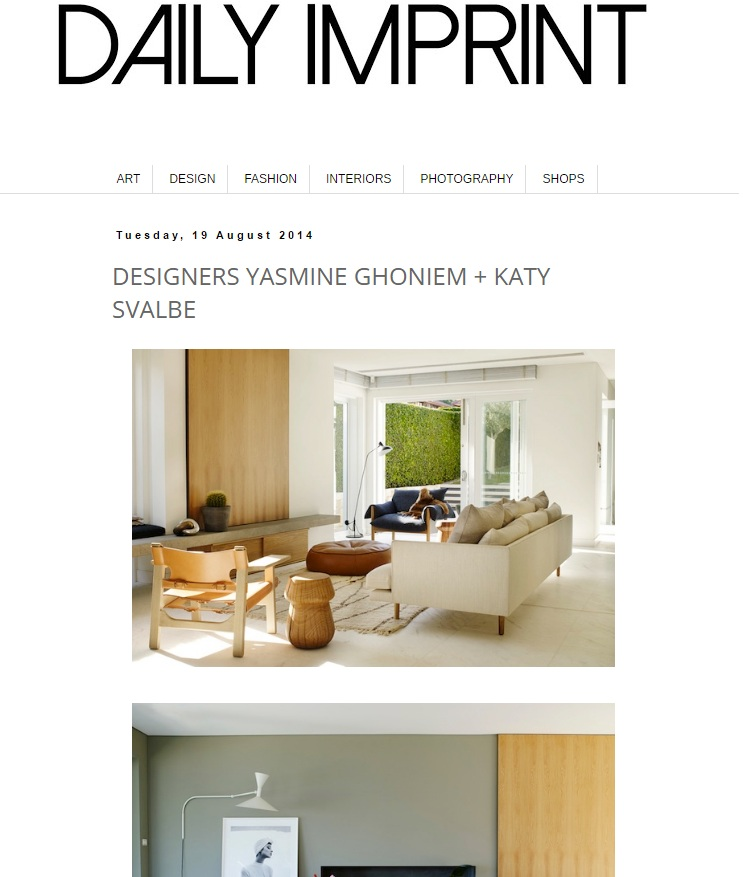 AUGUST 2014  | DAILY IMPRINT -  CRONULLA RESIDENCE