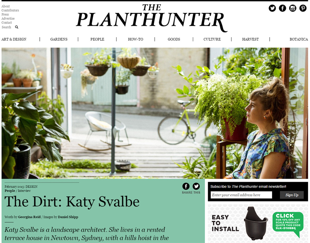MARCH 2015 | THE PLANT HUNTER - KATY SVALBE