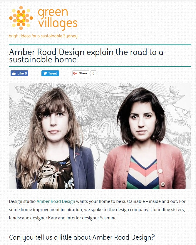 MAY 2013  | GREEN VILLAGES OF SYDNEY - SUSTAINABLE LIVING