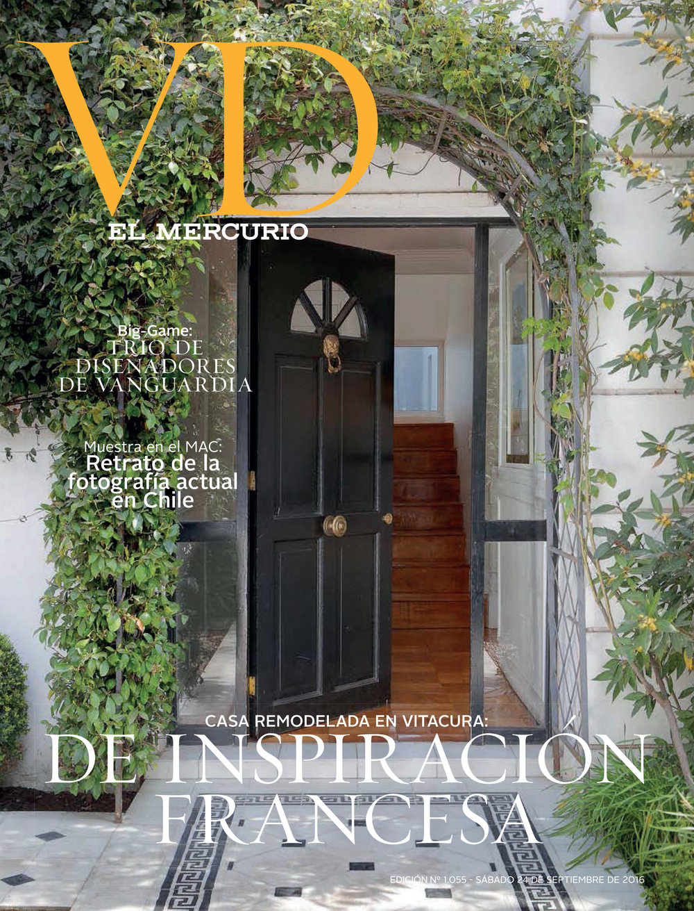 SEPTEMBER 2016  |VD EL MERCURIO - CHILE - DECO HOUSE FEATURE