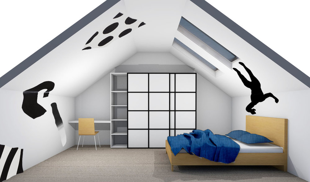 ARTISTS IMPRESSION | Conceptual  rendering of the design proposal for Bedroom 1| by Amber Road