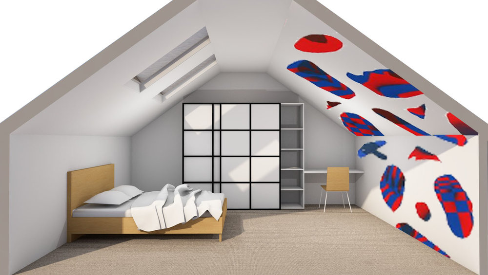 ARTISTS IMPRESSION | Conceptual  rendering of the design proposal - Bedroom 2 | by Amber Road