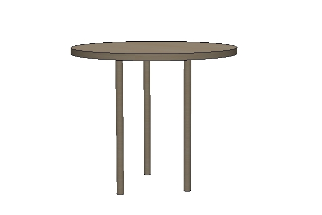 Conceptual rendering of table prior to fabrication
