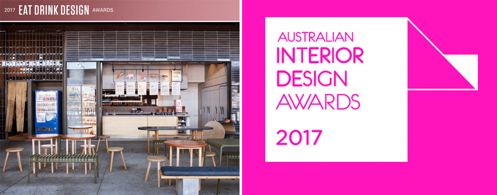 HIGH COMMENDATION  | Eat Drink Design Awards 2017 | Best Restaurant                                     HIGH COMMENDATION  |  AIDA Awards 2017 | Emerging Interior Design Practice
