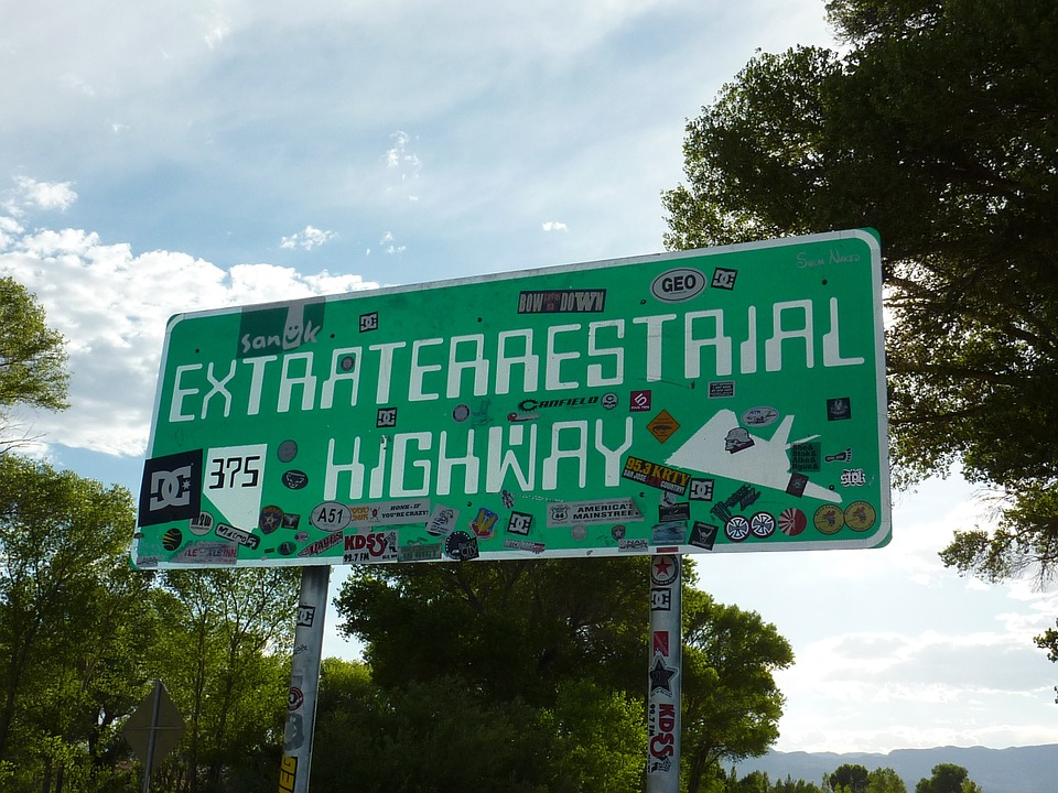 """Sign from the """"Extraterrestrial Highway"""" near Area 51"""