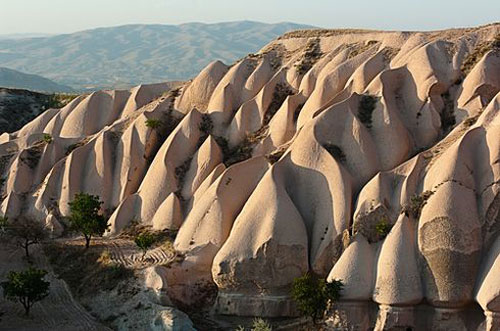 "A typical ""feminine""-in-energy valley in Cappadocia"