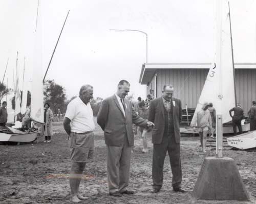 Flagpole dedication 1963