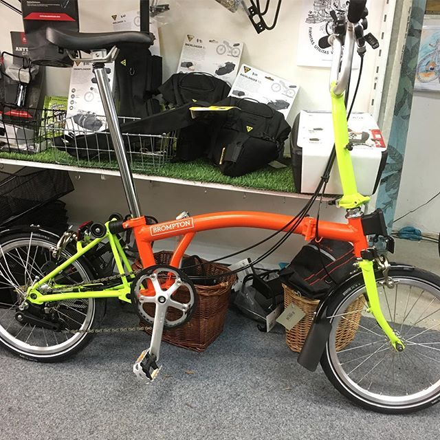$1900 #bromptonbicycle !  Wooo Which colour grips?