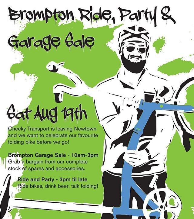 Final Cheeky Brompton ride/sale . Please join us Sat 19 august at 3pm for a short ride and get together. #bromptonbicycle #bromptonsundays