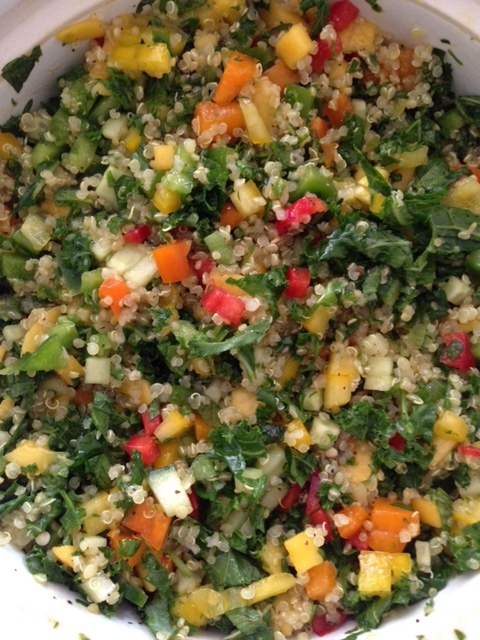 Quinoa, Mango with Kale