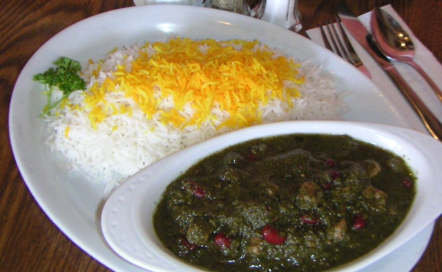 Ghormeh Sabzi ( Herbs, Red Kidney Beans with Beef or Chicken )