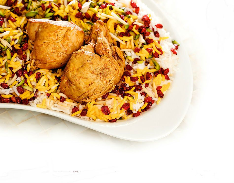 Zereshk Polo ( Barberry Rice with Chicken )