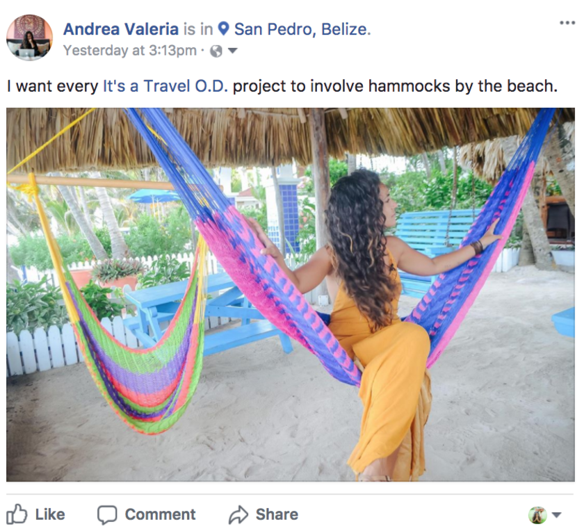 Andrea Valeria, vlogger, digital nomad @itsatravelod